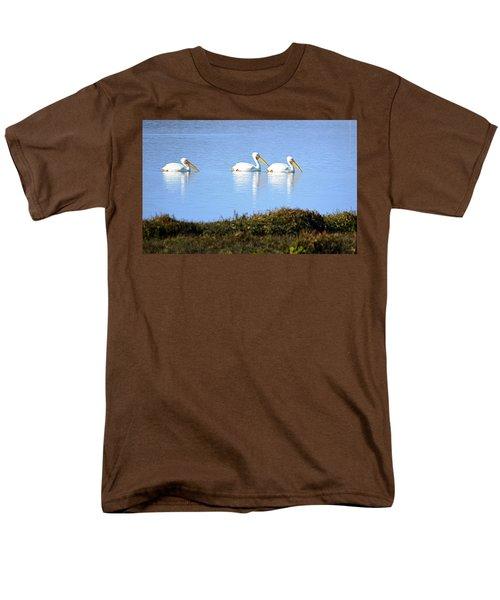 Tres Pelicanos Blancos Men's T-Shirt  (Regular Fit) by AJ Schibig