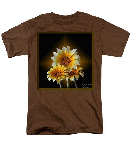 Triple Sunshine Black And Gold Men's T-Shirt  (Regular Fit)