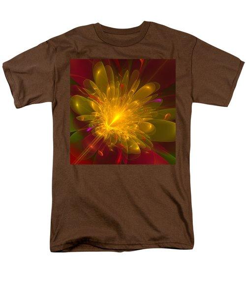 Men's T-Shirt  (Regular Fit) featuring the digital art Tropical Flower by Svetlana Nikolova