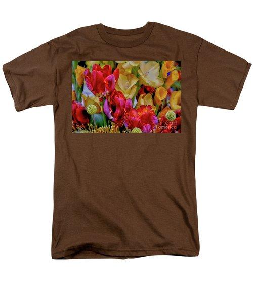 Tulip Bouquet Men's T-Shirt  (Regular Fit) by Sandy Moulder
