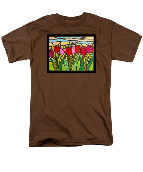 Tulips At Sunrise Men's T-Shirt  (Regular Fit) by Jim Harris