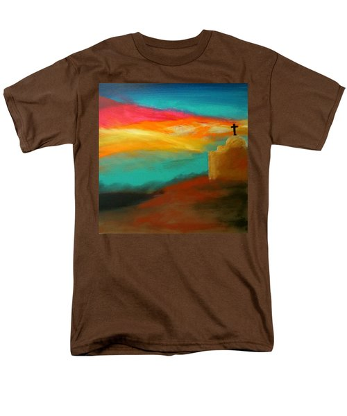 Turquoise Trail Sunset Men's T-Shirt  (Regular Fit) by Keith Thue