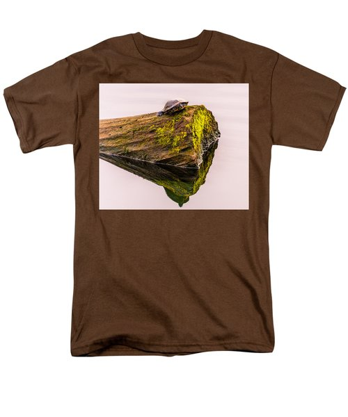 Turtle Basking Men's T-Shirt  (Regular Fit) by Jerry Cahill