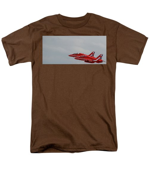 Twin Red Arrows Taking Off - Teesside Airshow 2016 Men's T-Shirt  (Regular Fit) by Scott Lyons