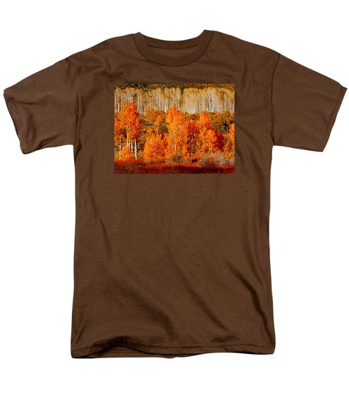 Two Rows Of Aspen Men's T-Shirt  (Regular Fit) by Marcia Socolik