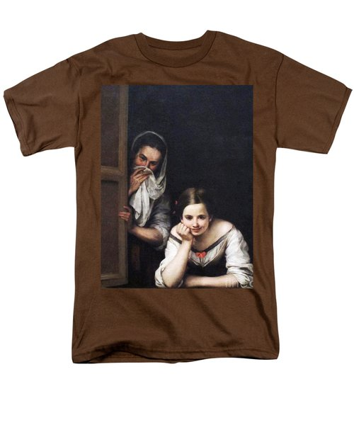 Men's T-Shirt  (Regular Fit) featuring the painting Two Women At Window by Pg Reproductions