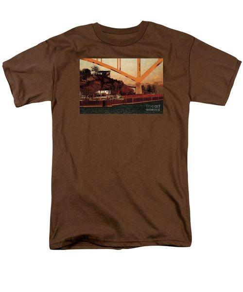 Men's T-Shirt  (Regular Fit) featuring the digital art Under The Hoan by David Blank