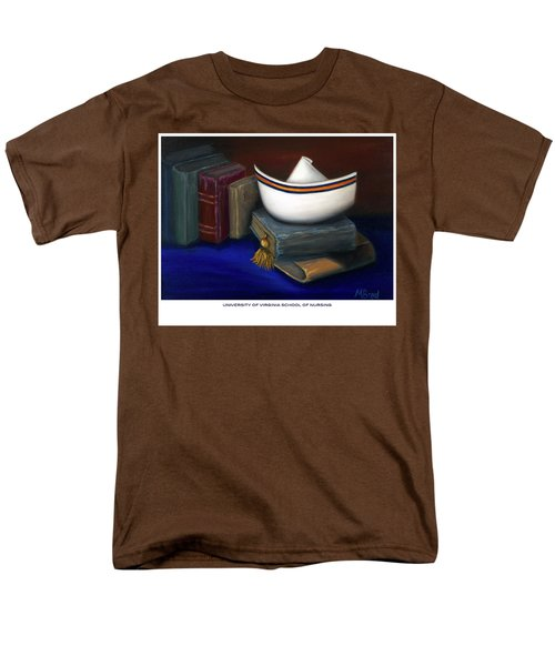Men's T-Shirt  (Regular Fit) featuring the painting University Of Virginia School Of Nursing by Marlyn Boyd
