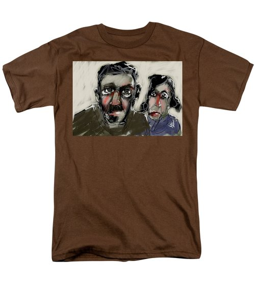 Men's T-Shirt  (Regular Fit) featuring the painting Untitled 21nov2016 by Jim Vance