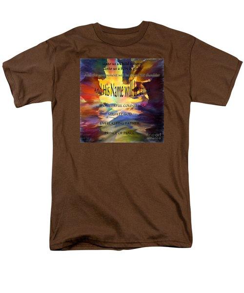 Unto Us Men's T-Shirt  (Regular Fit) by Margie Chapman