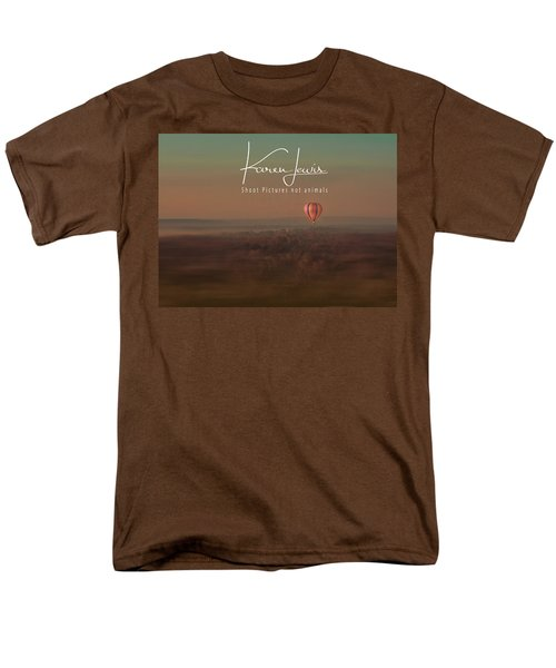 Men's T-Shirt  (Regular Fit) featuring the photograph Up Up And Away In My Beautiful Balloon  by Karen Lewis