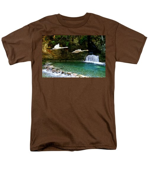 Upper Margaret Falls Men's T-Shirt  (Regular Fit) by Ed Hall