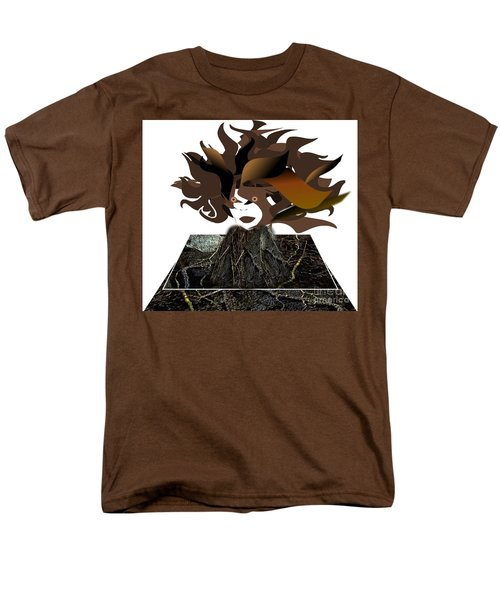 Uprooted Men's T-Shirt  (Regular Fit) by Belinda Threeths