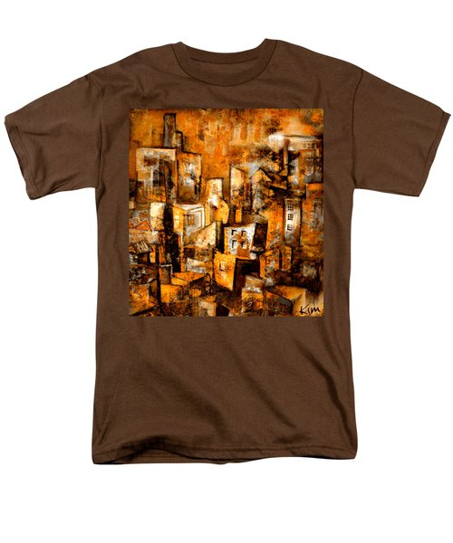 Men's T-Shirt  (Regular Fit) featuring the mixed media Urban Abstract #1 by Kim Gauge