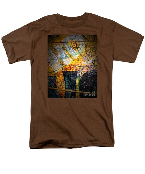 Men's T-Shirt  (Regular Fit) featuring the photograph Urban Grunge Three by Ken Frischkorn