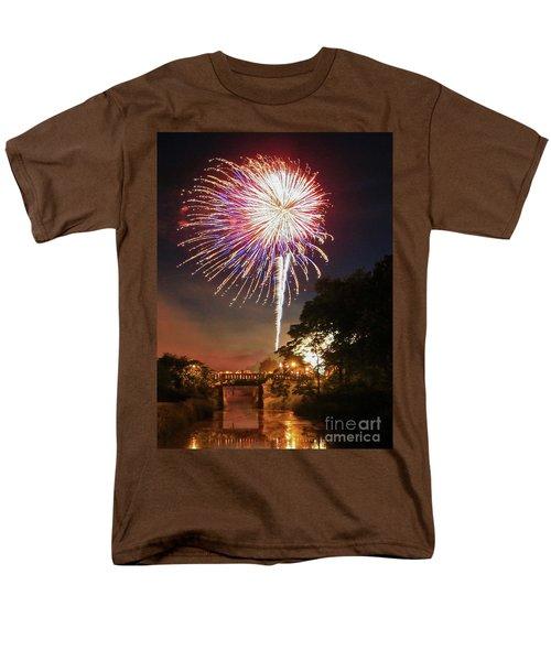 Utica Fireworks Men's T-Shirt  (Regular Fit) by Paula Guttilla