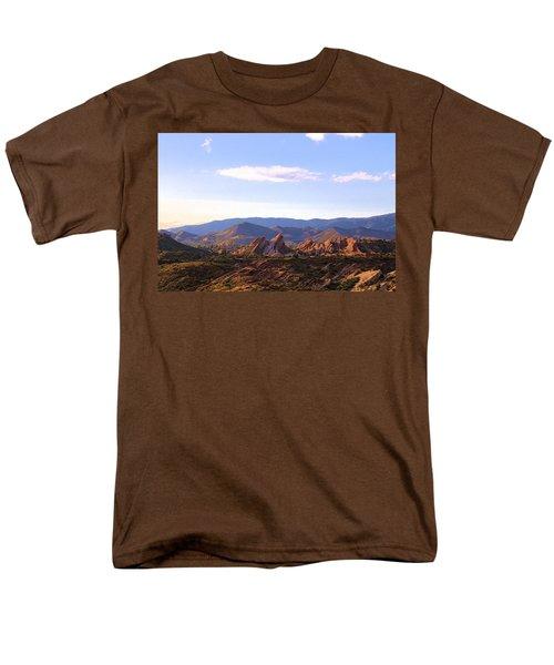 Men's T-Shirt  (Regular Fit) featuring the photograph Vasquez Rocks Sky And Stones by Viktor Savchenko