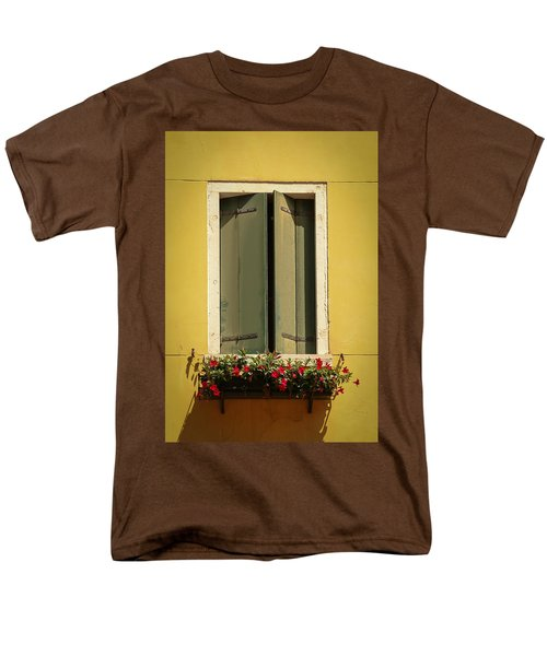 Venice Window In Green Men's T-Shirt  (Regular Fit) by Kathleen Scanlan