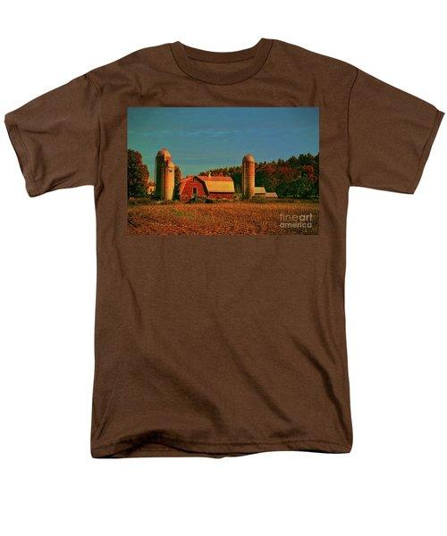 Men's T-Shirt  (Regular Fit) featuring the photograph Vermont Autumn Barn by Deborah Benoit
