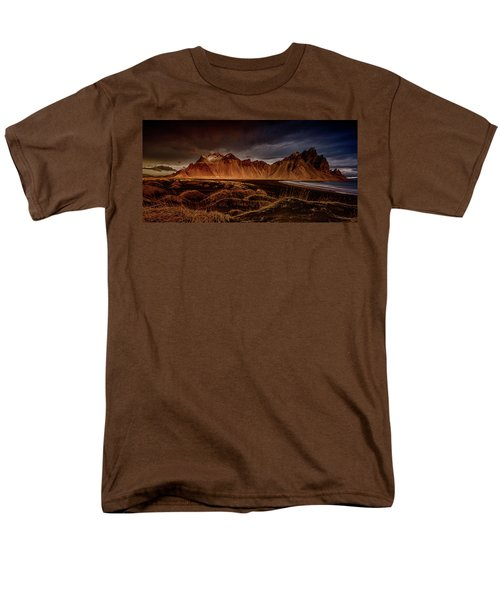 Men's T-Shirt  (Regular Fit) featuring the photograph Vestrahon With Sunglow by Allen Biedrzycki
