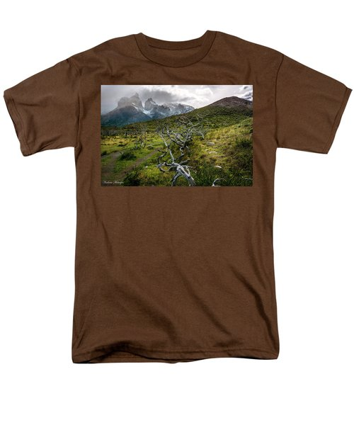 Men's T-Shirt  (Regular Fit) featuring the photograph Vibrant Desolation by Andrew Matwijec