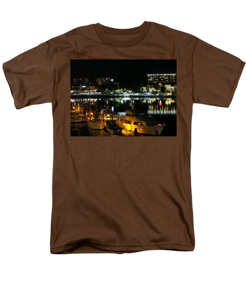 Victoria Inner Harbor At Night Men's T-Shirt  (Regular Fit) by Betty Buller Whitehead