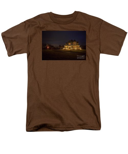 Victorian House At Christmas Men's T-Shirt  (Regular Fit) by Diane Diederich