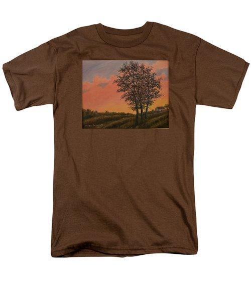 Men's T-Shirt  (Regular Fit) featuring the painting Vineyard Sundown by Kathleen McDermott