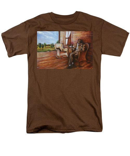 Men's T-Shirt  (Regular Fit) featuring the painting Violin Man by Emery Franklin