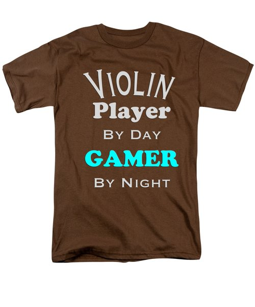 Violin Player By Day Gamer By Night 5633.02 Men's T-Shirt  (Regular Fit) by M K  Miller