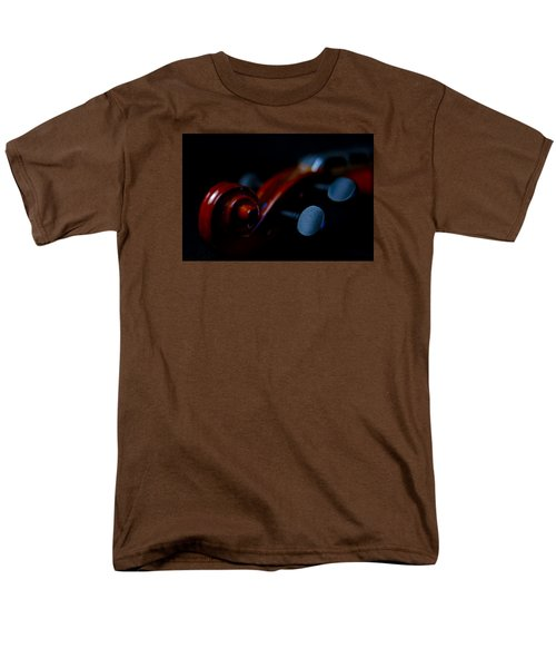 Violin Portrait Music 20 Macro Men's T-Shirt  (Regular Fit) by David Haskett