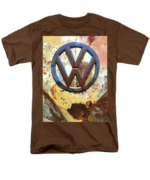 Vw Volkswagen Emblem With Rust Men's T-Shirt  (Regular Fit) by Kelly Hazel