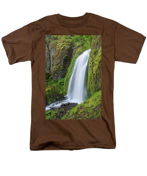 Wahkeena Falls Men's T-Shirt  (Regular Fit) by Greg Nyquist
