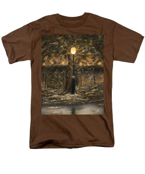 Men's T-Shirt  (Regular Fit) featuring the painting Waiting For The Snow by Veronica Minozzi