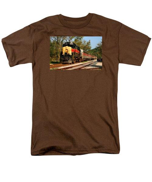 Waiting For The Train Men's T-Shirt  (Regular Fit) by Kristin Elmquist
