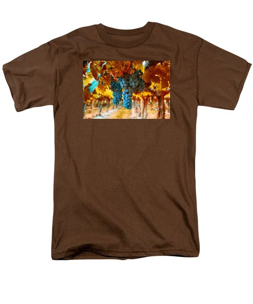 Men's T-Shirt  (Regular Fit) featuring the photograph Walking Through The Grapes by Lynn Hopwood
