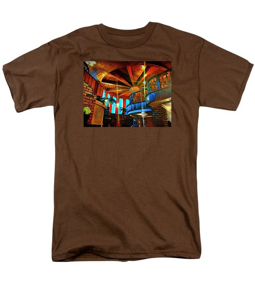 Men's T-Shirt  (Regular Fit) featuring the photograph Wallaceville House's Rustic Balcony by Kathy Kelly