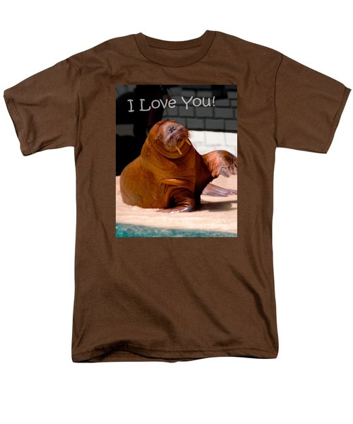 Men's T-Shirt  (Regular Fit) featuring the photograph Walrus Loves You by Bob Pardue