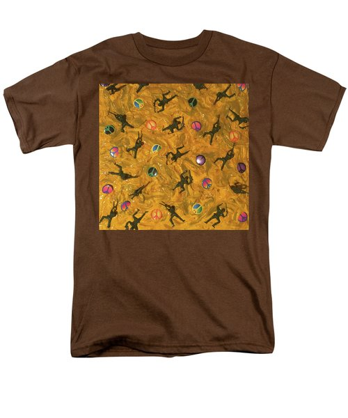 Men's T-Shirt  (Regular Fit) featuring the painting War And Peace by Thomas Blood