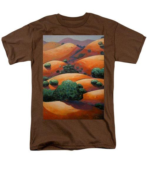 Warm Afternoon Light On Ca Hillside Men's T-Shirt  (Regular Fit) by Gary Coleman
