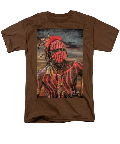 Warpath Shawnee Indian Men's T-Shirt  (Regular Fit) by Randy Steele