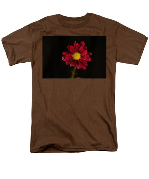 Men's T-Shirt  (Regular Fit) featuring the photograph Water Drops On A Flower by Jeff Swan