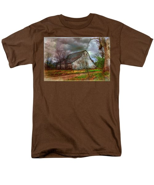 Watercolor Barn 2 Men's T-Shirt  (Regular Fit) by Karen McKenzie McAdoo