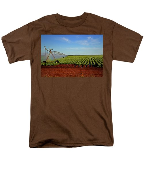 Men's T-Shirt  (Regular Fit) featuring the photograph Watering The Garden 002 by George Bostian