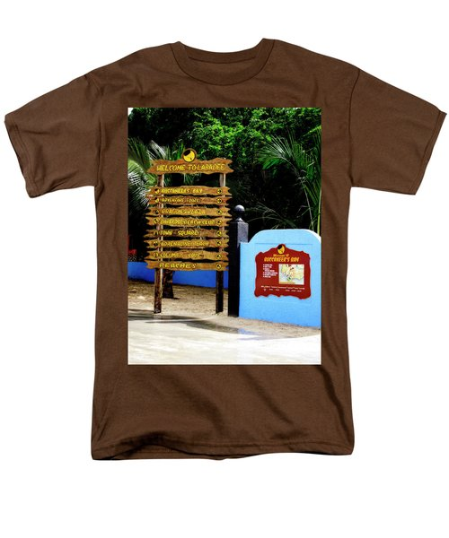 Welcome To Labadee Men's T-Shirt  (Regular Fit) by Shelley Neff