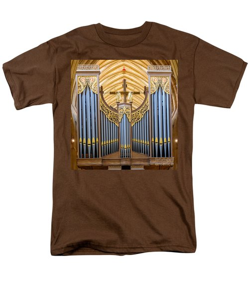 Wells Cathedral Organ Men's T-Shirt  (Regular Fit) by Colin Rayner