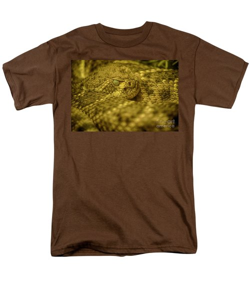 Men's T-Shirt  (Regular Fit) featuring the photograph Western Diamondback Rattlesnake by Anne Rodkin