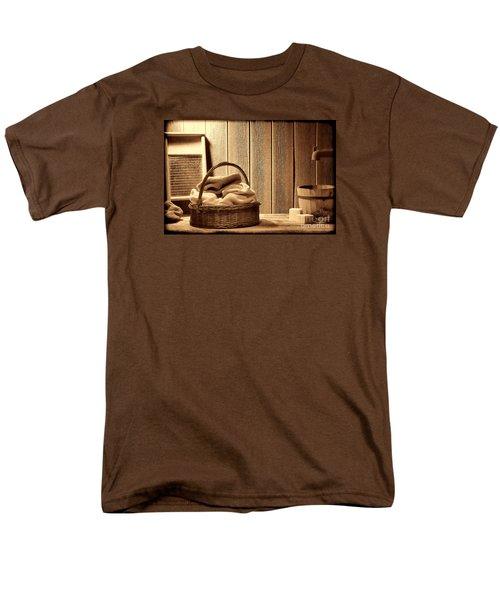Western Laundromat   Men's T-Shirt  (Regular Fit) by American West Legend By Olivier Le Queinec
