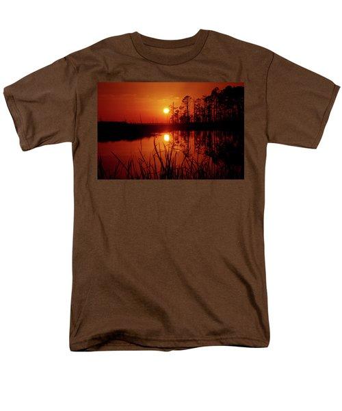 Men's T-Shirt  (Regular Fit) featuring the photograph Wetland Sunset by Robert Geary