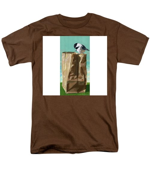 Men's T-Shirt  (Regular Fit) featuring the painting What's In The Bag Original Painting by Linda Apple